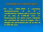 contributo comunitario