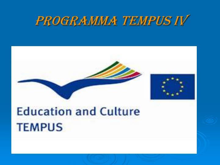 Programma Tempus IV