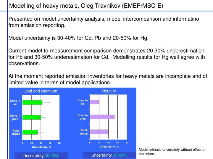 Modelling of heavy metals, Oleg Travnikov (EMEP/MSC-E)