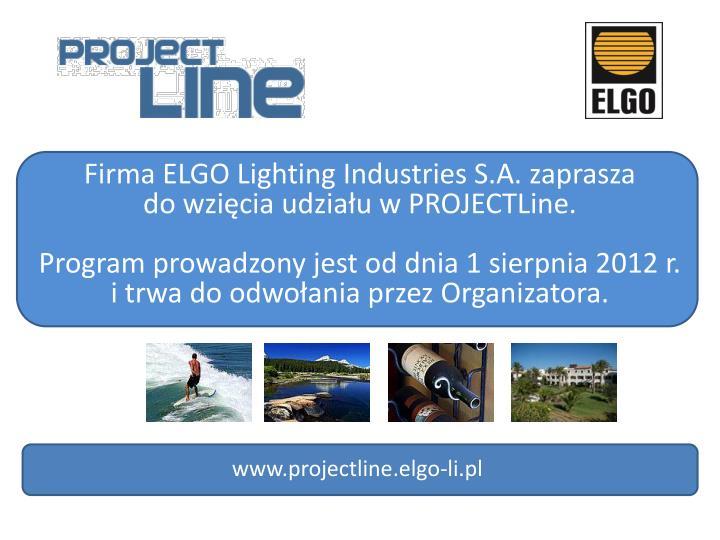 Firma ELGO Lighting Industries S.A. zaprasza