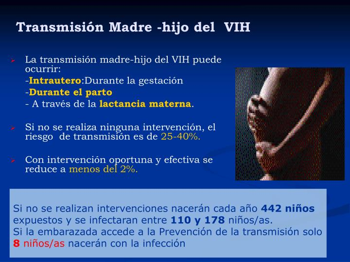 Transmisión Madre -hijo del  VIH