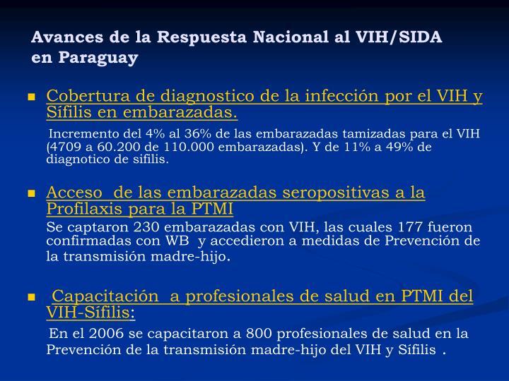 Avances de la Respuesta Nacional al VIH/SIDA en Paraguay
