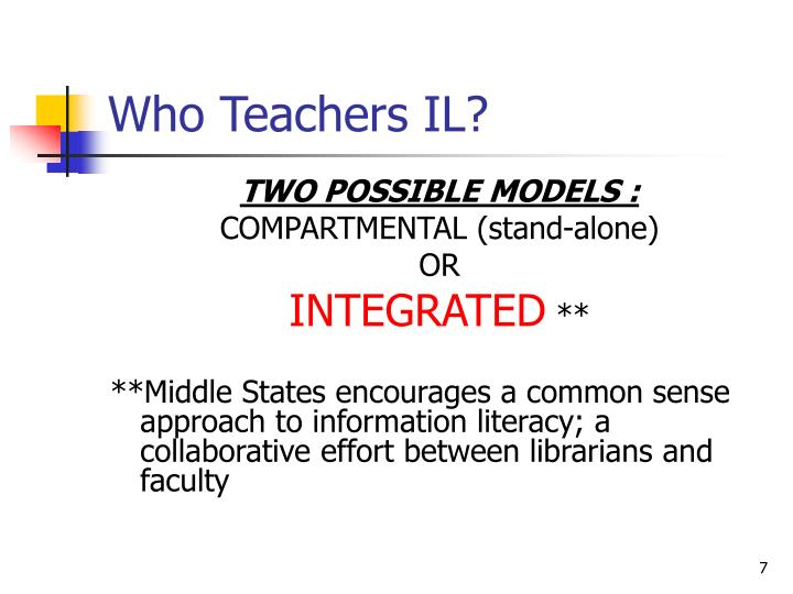 Who Teachers IL?