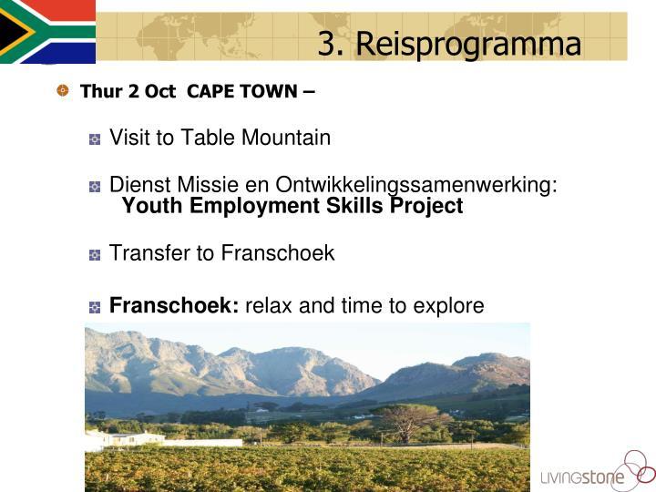 3. Reisprogramma