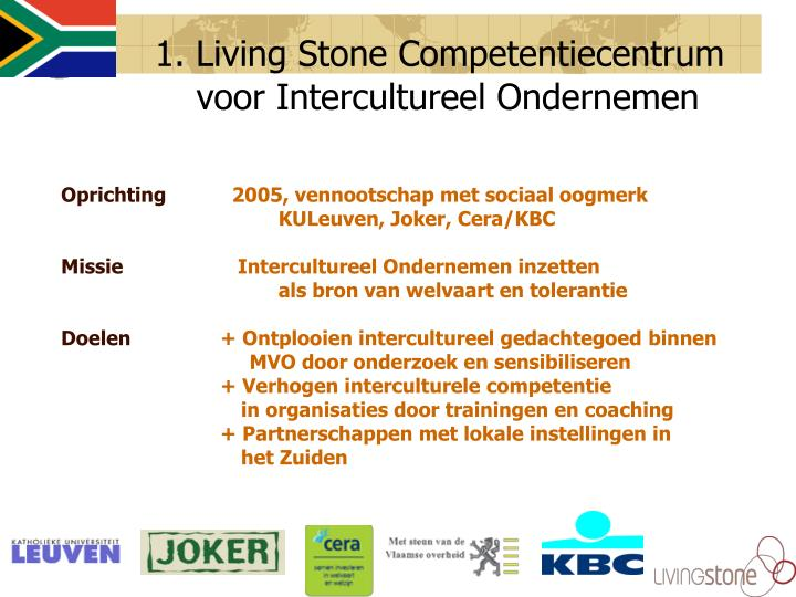 1. Living Stone Competentiecentrum