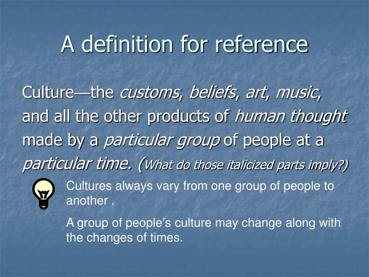 A definition for reference
