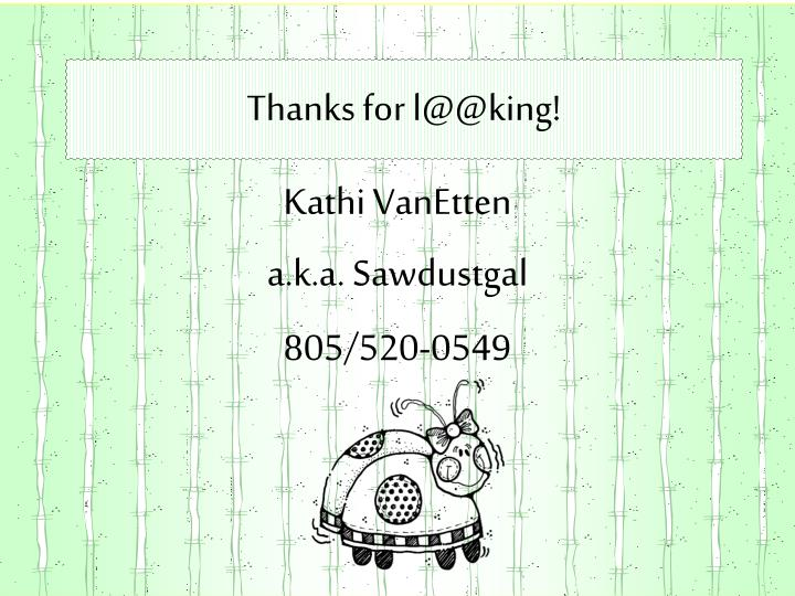 Thanks for l@@king!