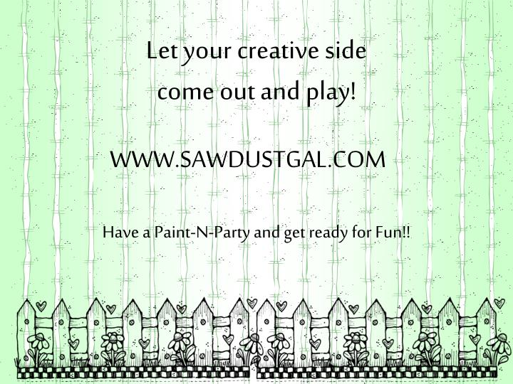Let your creative side
