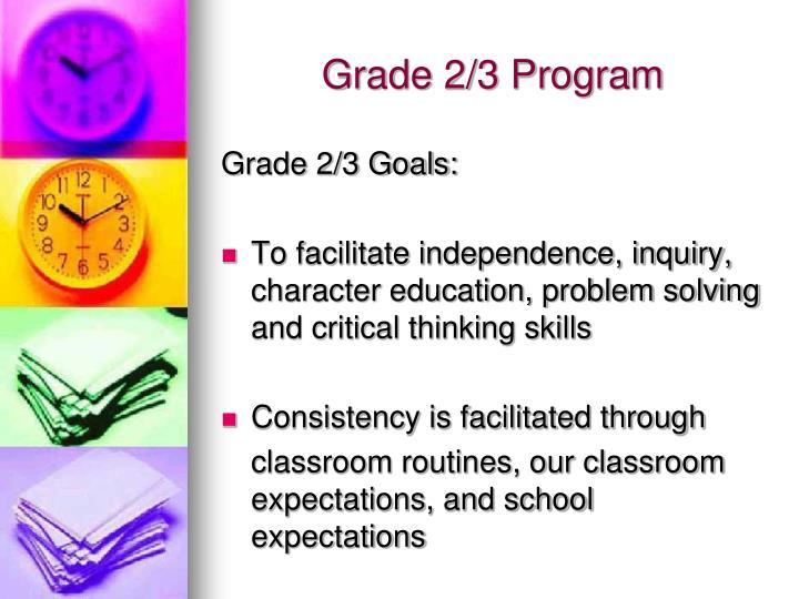 Grade 2/3 Program
