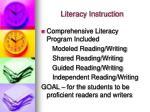literacy instruction