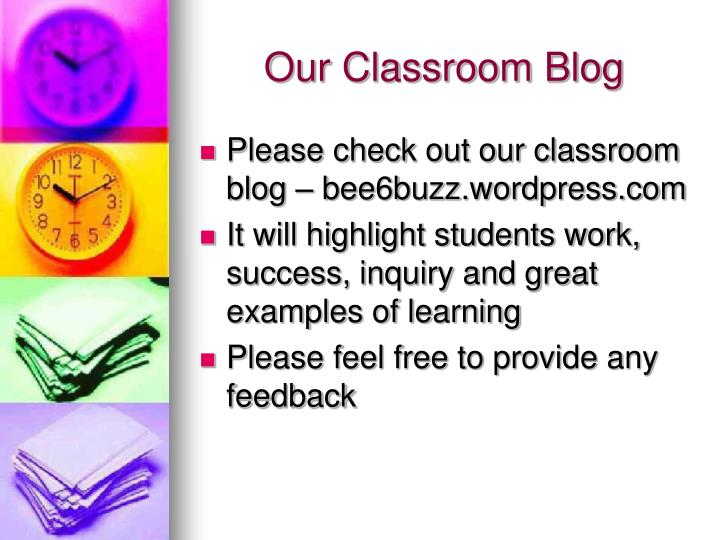 Our Classroom Blog