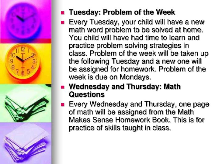 Tuesday: Problem of the Week