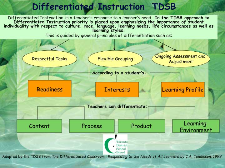 Differentiated Instruction  TDSB