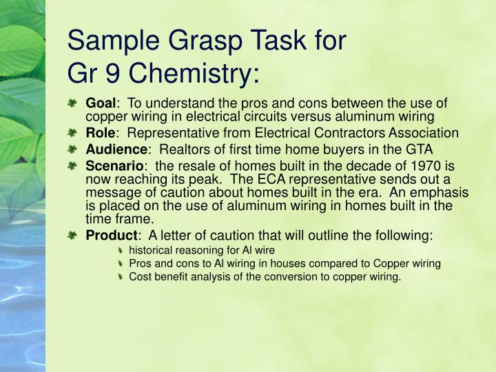 Sample Grasp Task for