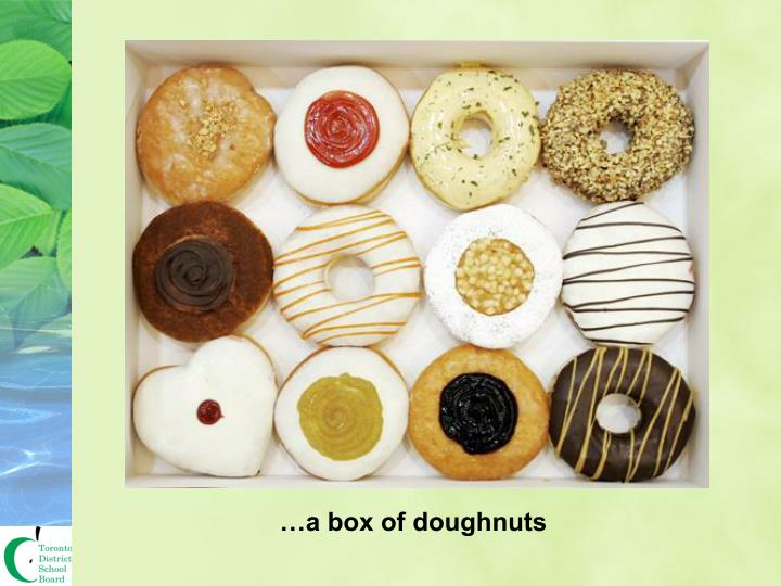 …a box of doughnuts