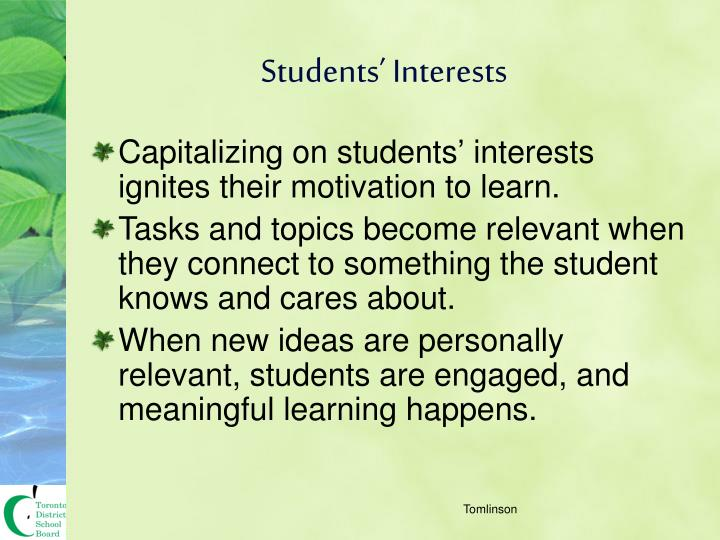 Students' Interests