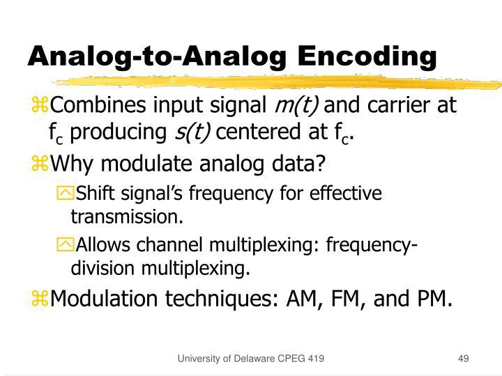 Analog-to-Analog Encoding