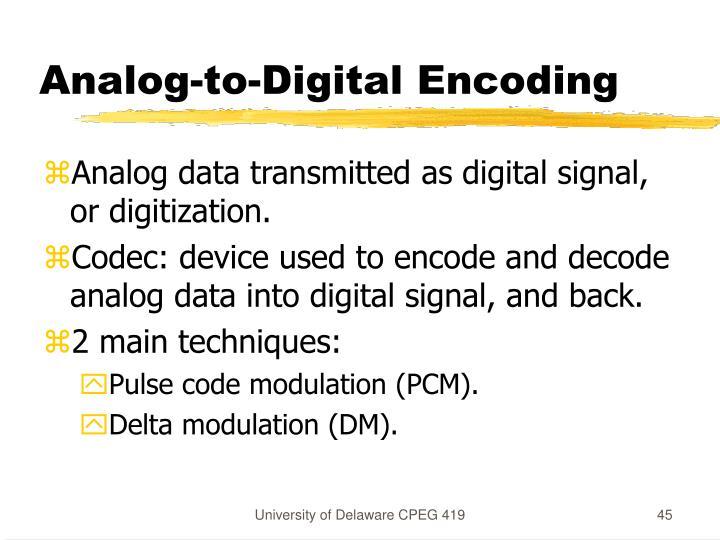 Analog-to-Digital Encoding