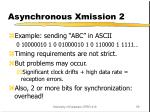asynchronous xmission 2