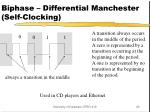 biphase differential manchester self clocking