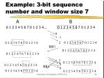 example 3 bit sequence number and window size 7