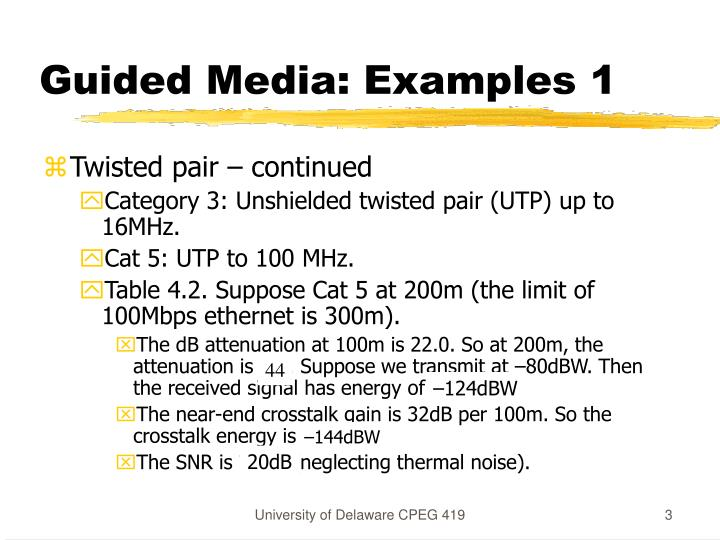 Guided Media: Examples 1