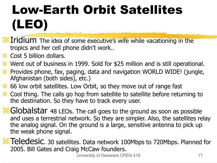 Low-Earth Orbit Satellites (LEO)
