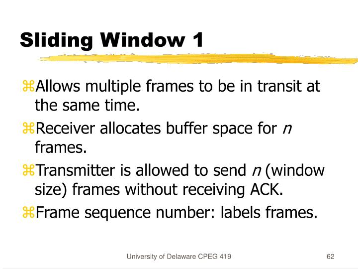 Sliding Window 1