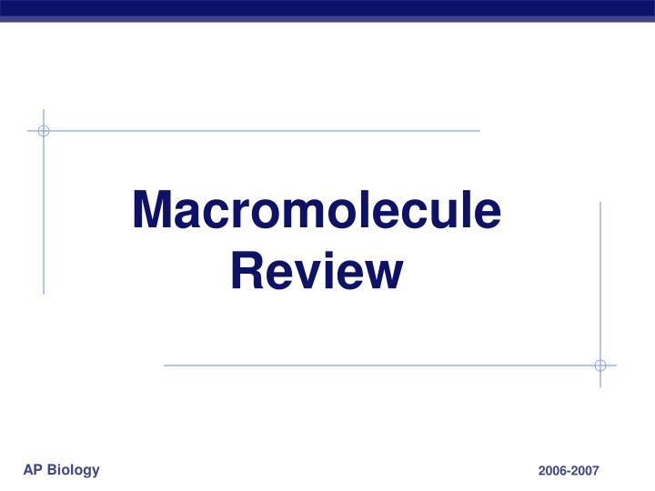 Macromolecule Review