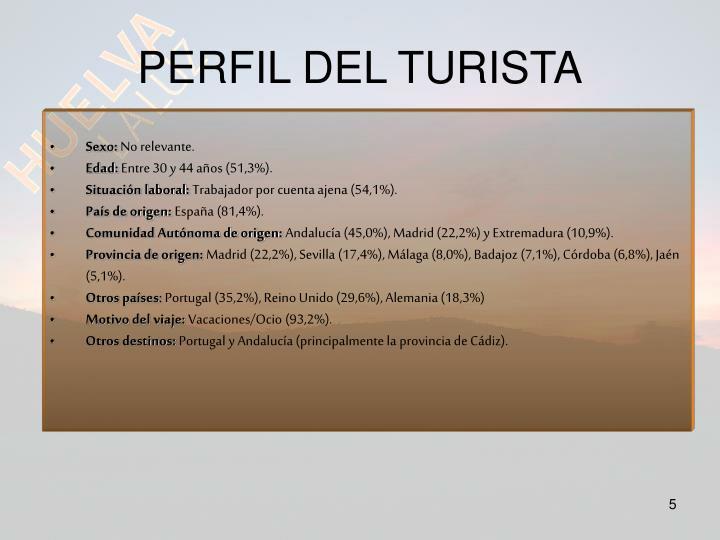 PERFIL DEL TURISTA