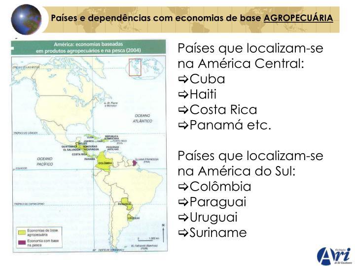 Países e dependências com economias de base