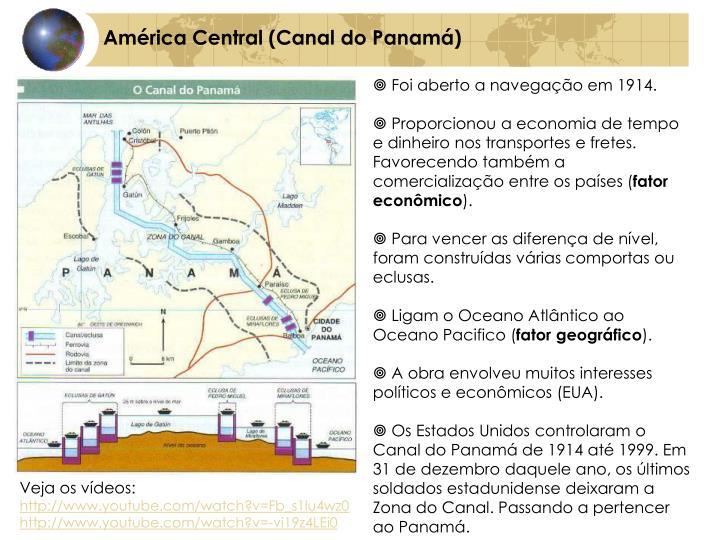 América Central (Canal do Panamá)