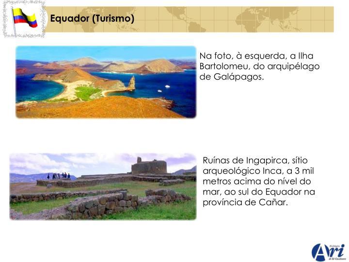 Na foto, à esquerda, a Ilha Bartolomeu, do arquipélago de Galápagos.