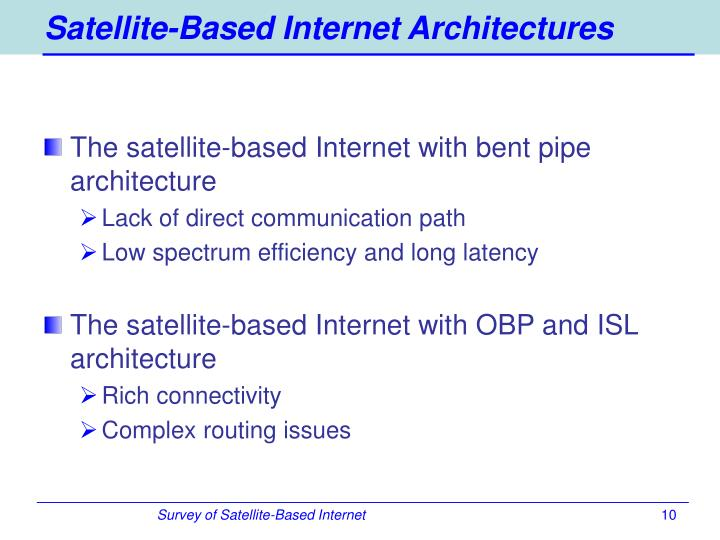 Satellite-Based Internet Architectures