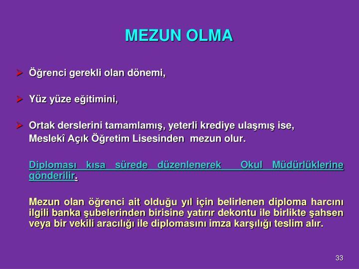 MEZUN OLMA