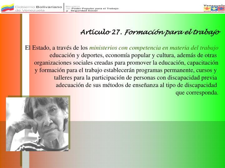 Artículo 27.