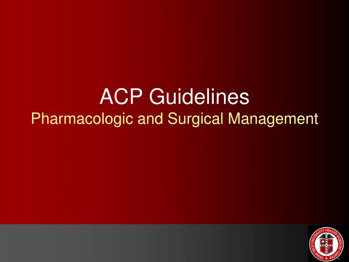 ACP Guidelines