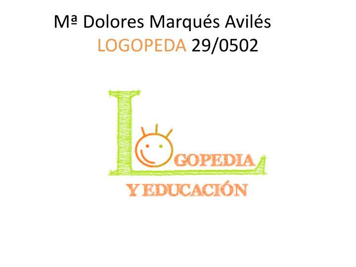 Mª Dolores Marqués Avilés