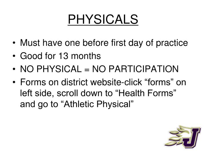 PHYSICALS