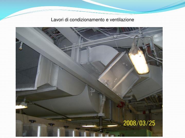 Lavori di condizionamento e ventilazione