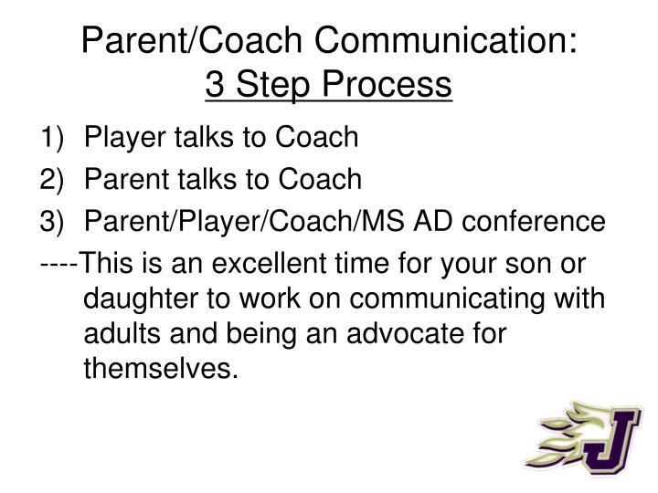 Parent/Coach Communication: