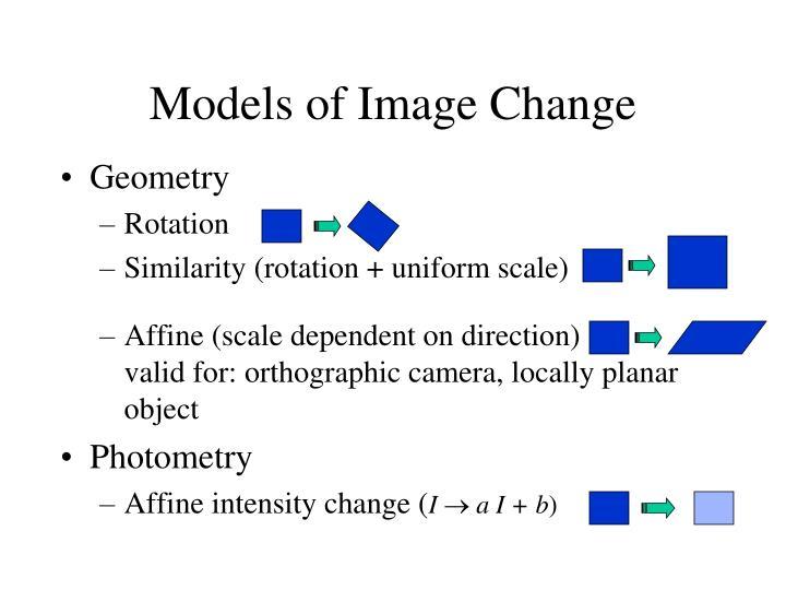 Models of Image Change