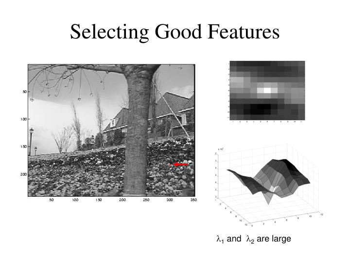 Selecting Good Features