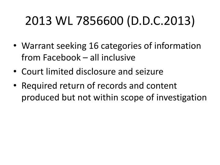 2013 WL 7856600 (D.D.C.2013)