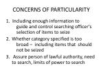 concerns of particularity