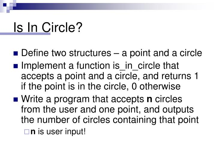 Is In Circle?