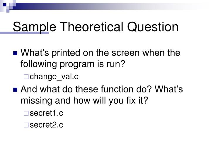 Sample Theoretical Question