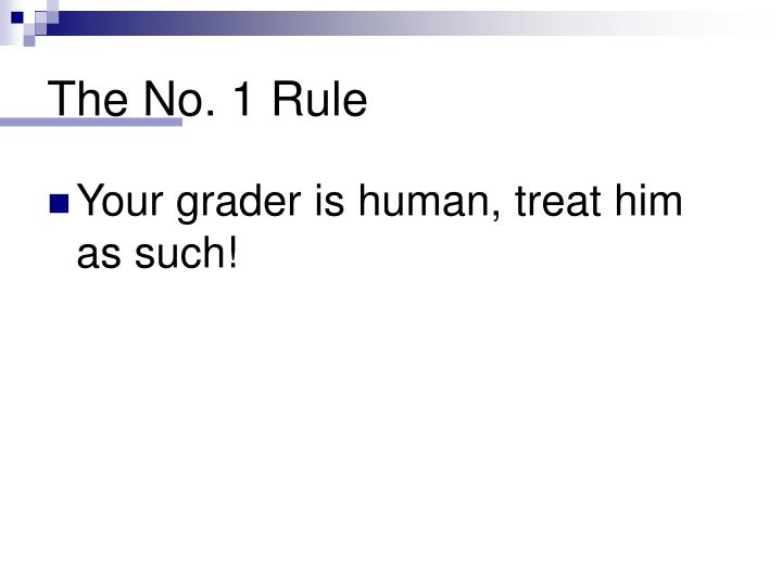 The No. 1 Rule