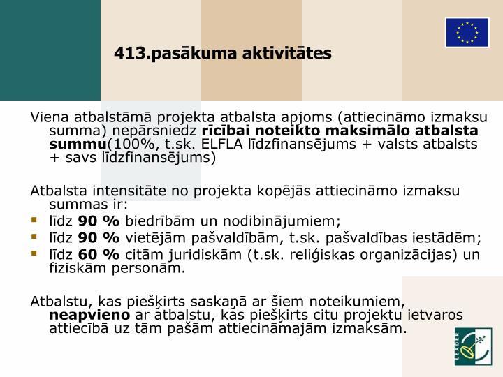 413.pasākuma aktivitātes