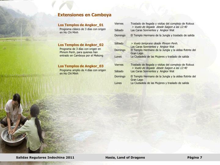 Extensiones en Camboya
